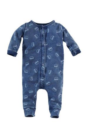 baby boxpak Tuna met all over print donkerblauw