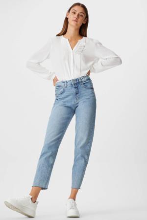 high waist mom jeans lichtblauw