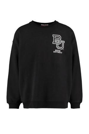 sweater met printopdruk washed black