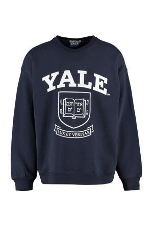sweater met printopdruk navy