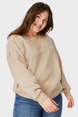 sweater met biologisch katoen beige