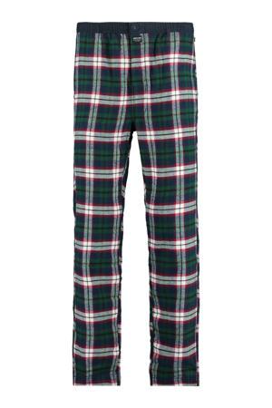 geruite pyjamabroek Nathan groen/wit/rood