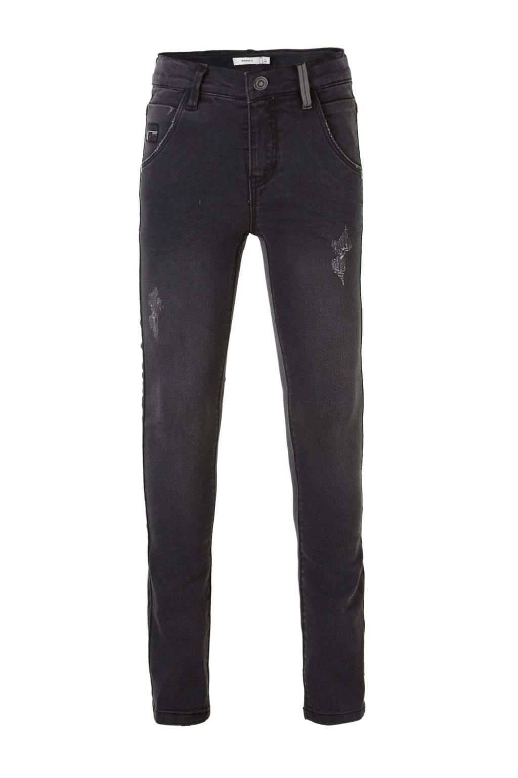 NAME IT KIDS Nittrap skinny fit jeans, Dark grey denim