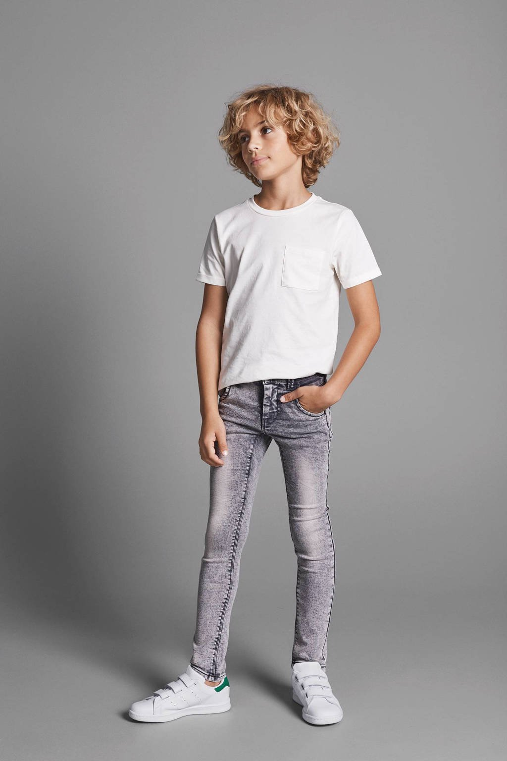 NAME IT KIDS Nittad x-slim fit jeans, Dark grey denim