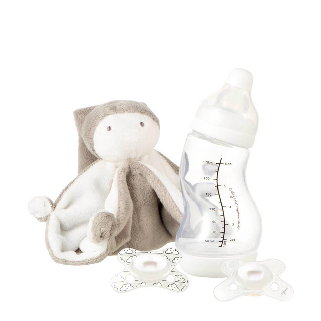 Difrax kraamcadeau baby (4-delig), Grijs