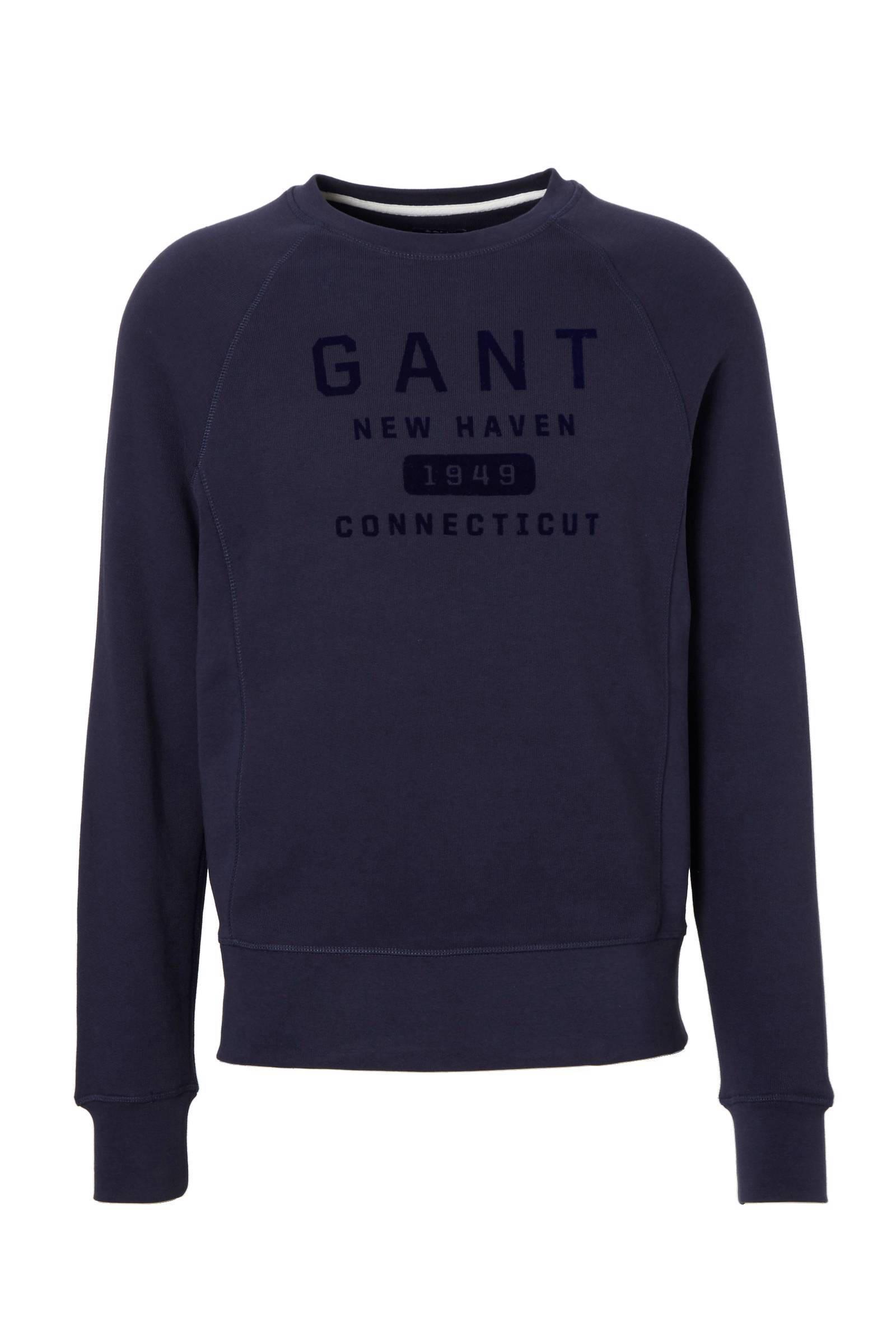 GANT sweater witroodblauwmarineoranje | wehkamp