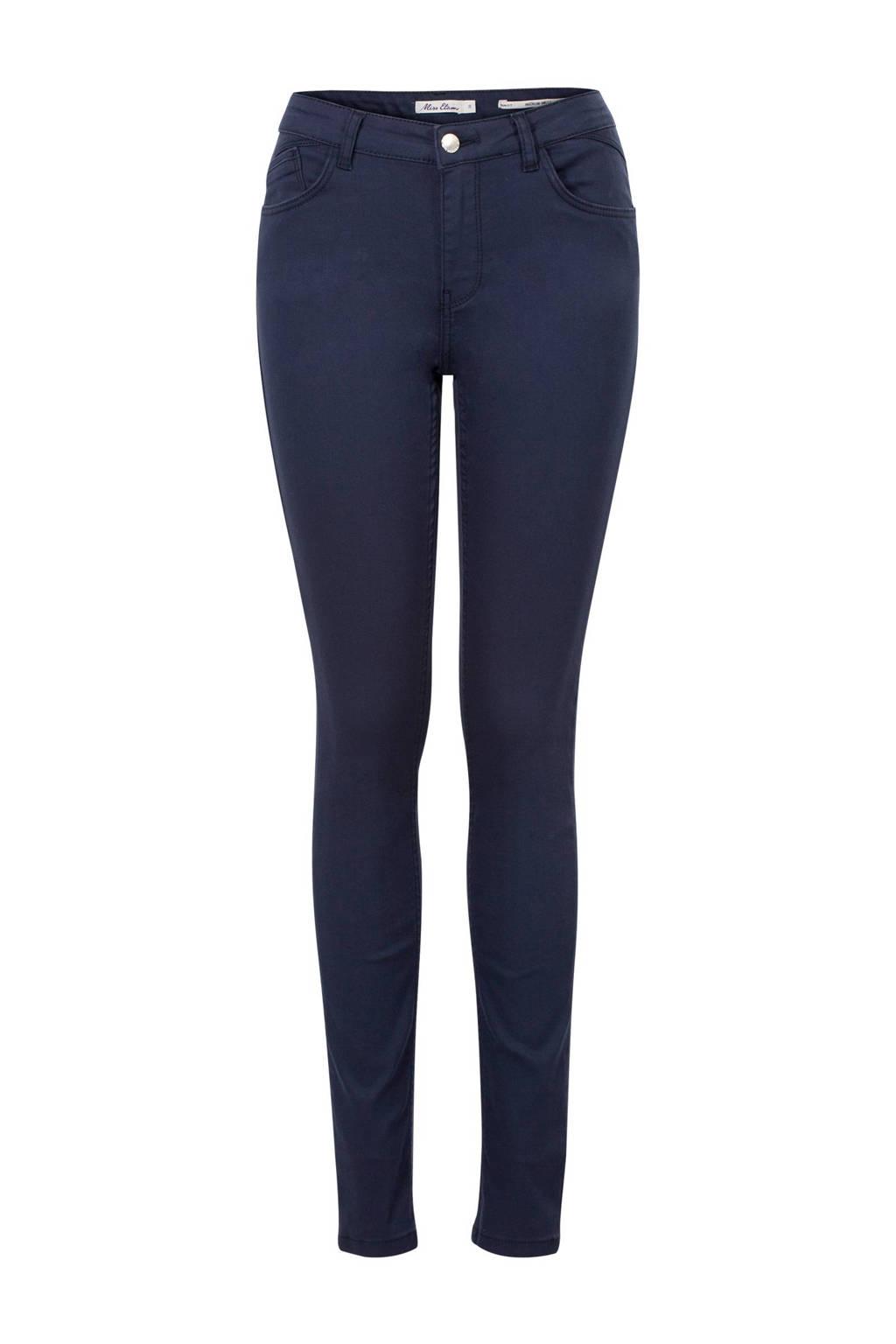 Miss Etam Lang slim fit broek 36 inch, Marine