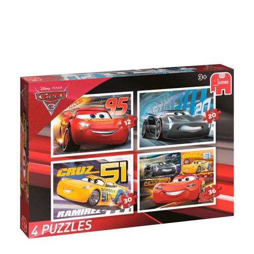 Disney Pixar Cars 3 4in1 puzzels