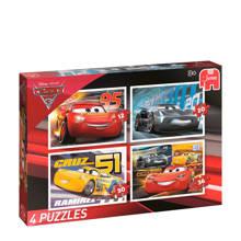 Disney Cars 4-in-1  legpuzzel 98 stukjes