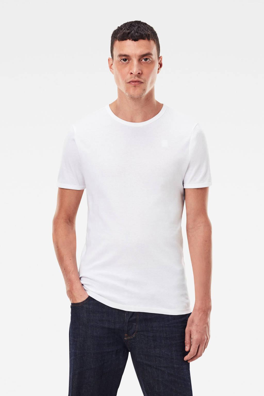 G-Star RAW Base T-shirt (set van 2), Wit