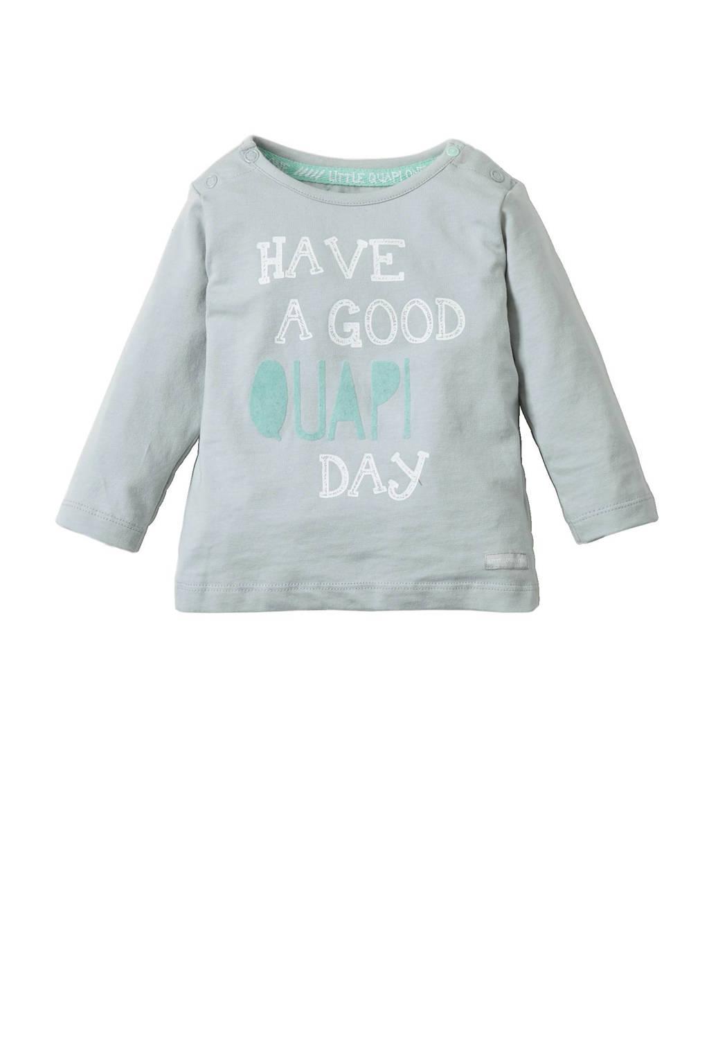 Quapi newborn T-shirt, Lichtgrijs