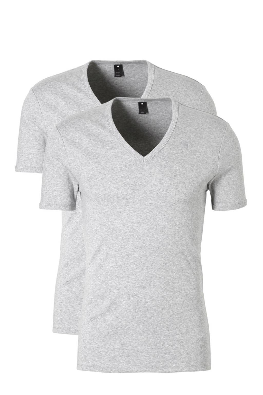 G-Star RAW Base T-shirt (set van 2), Grijs