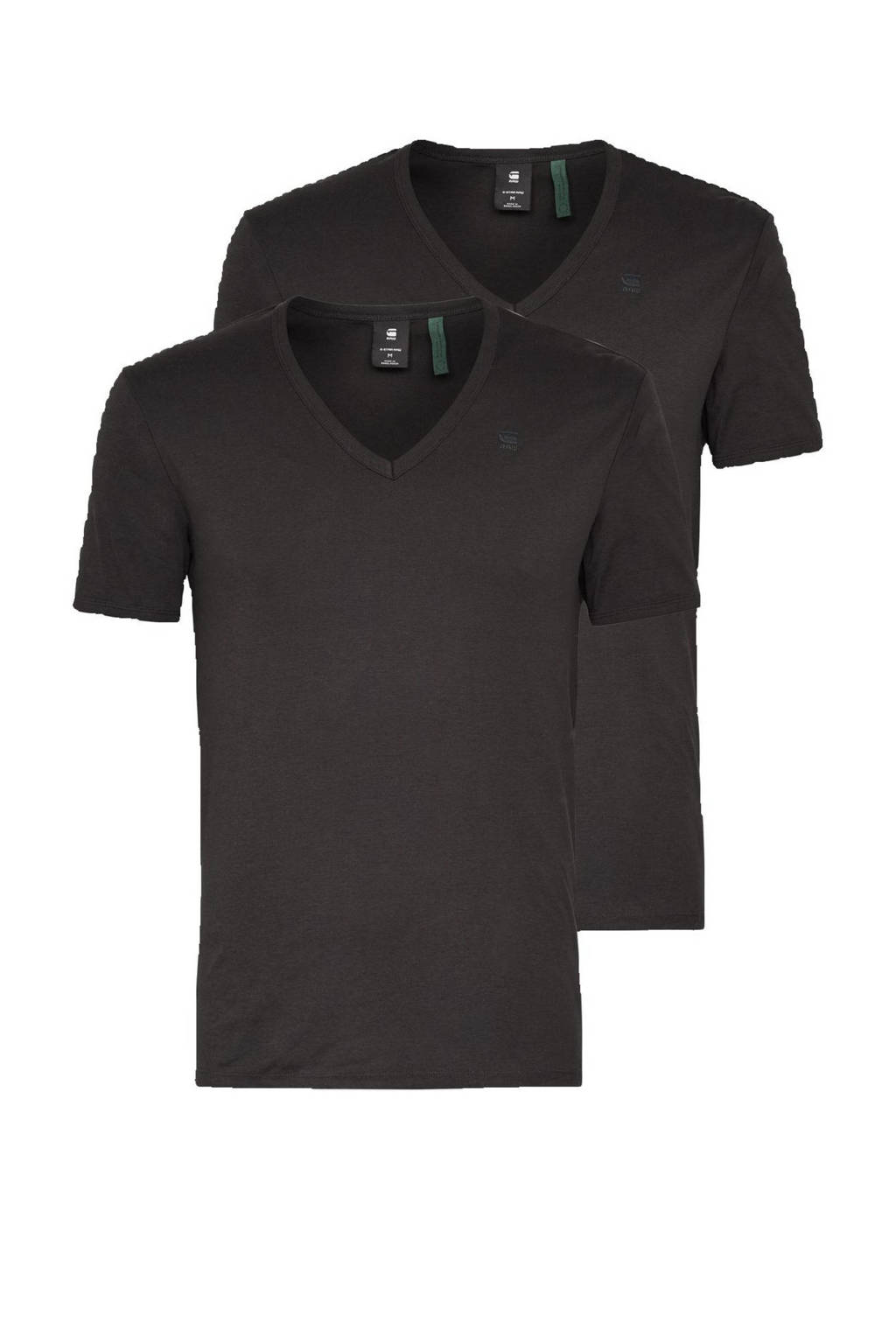 G-Star RAW Base T-shirt (set van 2), Zwart