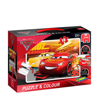 Disney Cars 3 colour  legpuzzel 18 stukjes