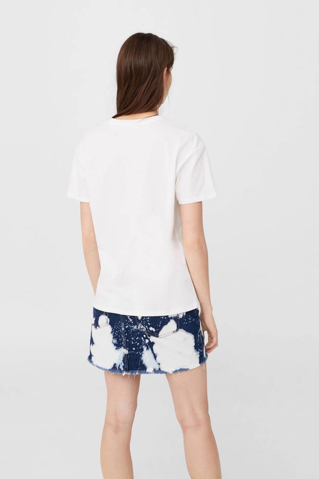 Mango t-shirt, Wit/roze/zilver/geel/blauw/groen