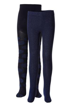 maillot - set van 2 glitter donkerblauw