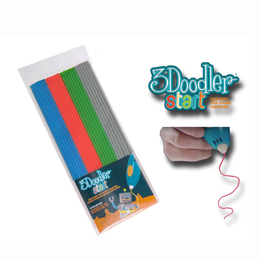 3Doodler Refill set met grijs, blauw, groen en rood