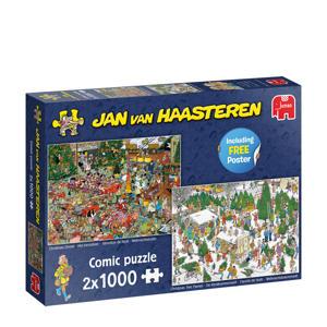 Jan van Haasteren Kerstcadeautjesin-  legpuzzel 1000 stukjes