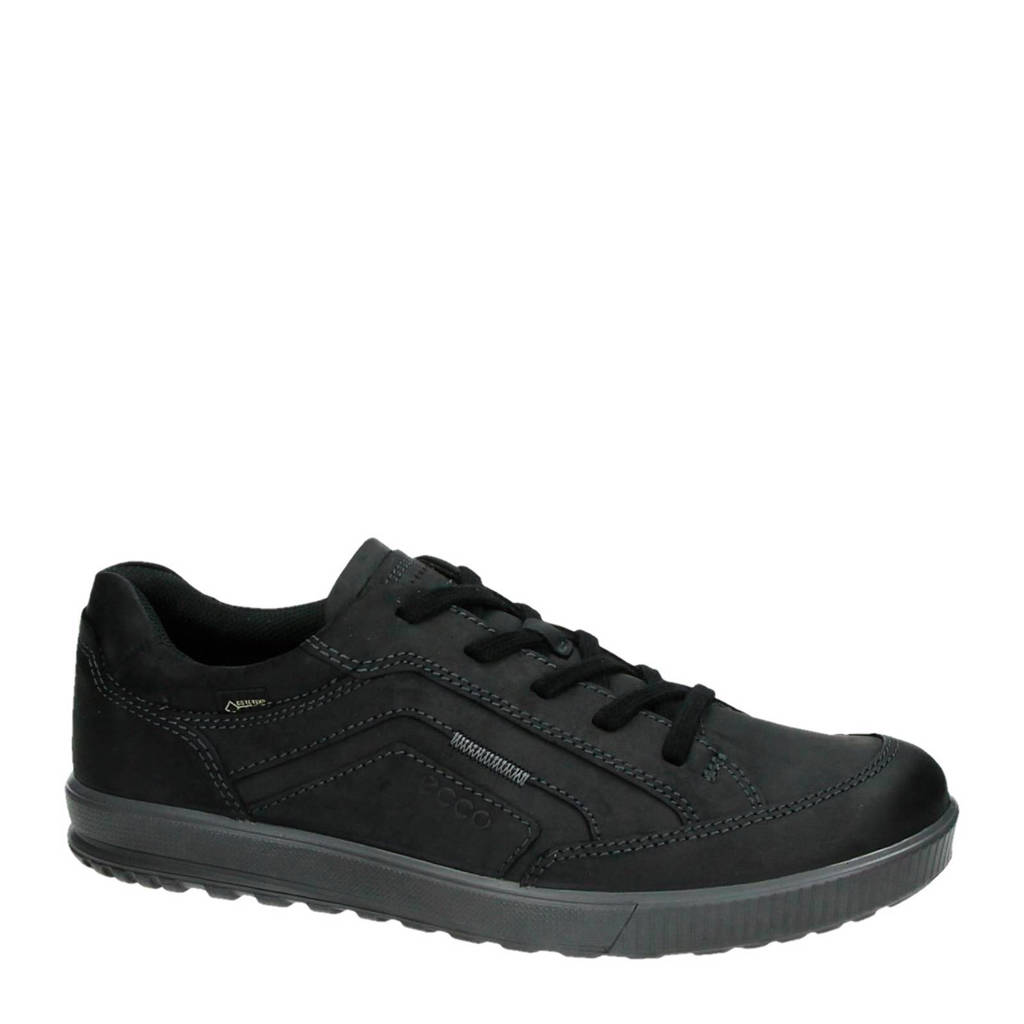 Ecco   nubuck sneakers zwart, Zwart