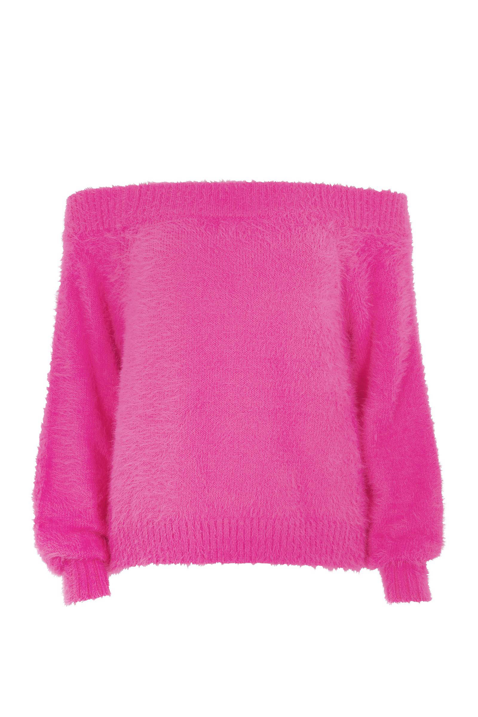 Off the shouldertrui Roze DAMES   H&M NL