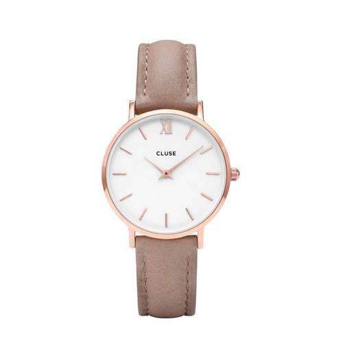 CLUSE-Horloges-Minuit Rose Gold White-Bruin