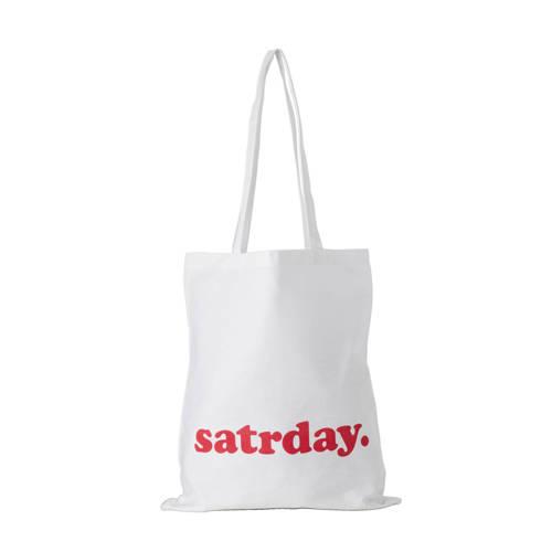 satrday. canvas tas - alleen verkrijgbaar i.c.m. actie