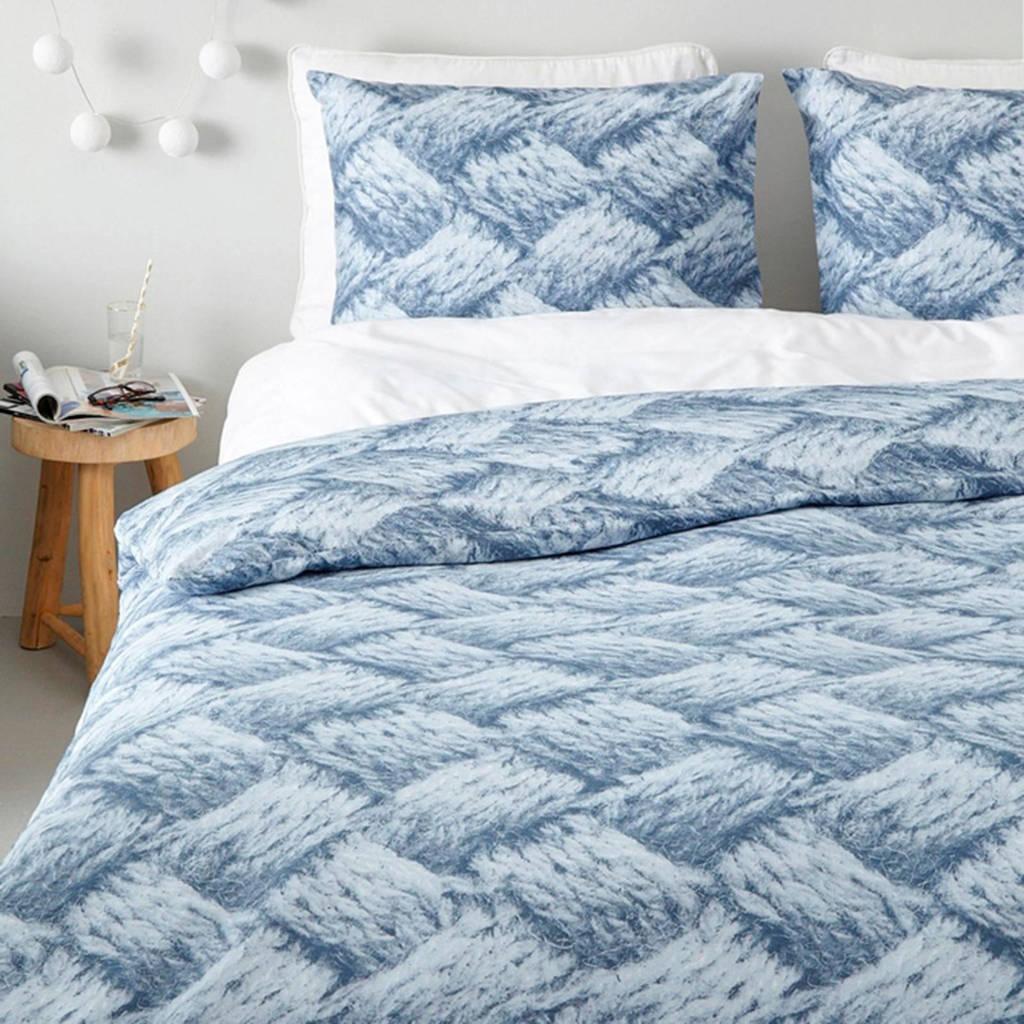 whkmp's own flanellen dekbedovertrek 1 pers., Blauw, 1 persoons (140 cm breed)
