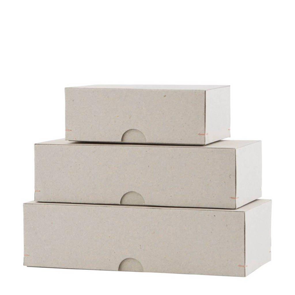 Monograph opbergdoos (set van 3), Wit