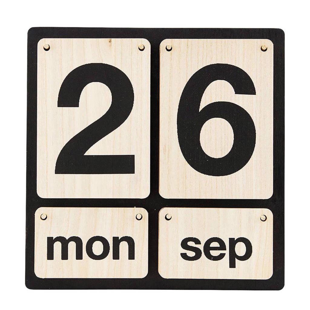 Monograph kalender, Zwart/hout