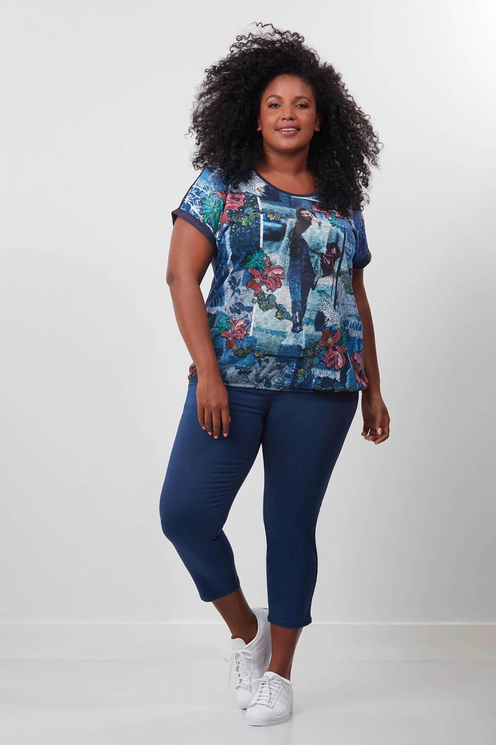 MS Mode T-shirt, Donkerblauw