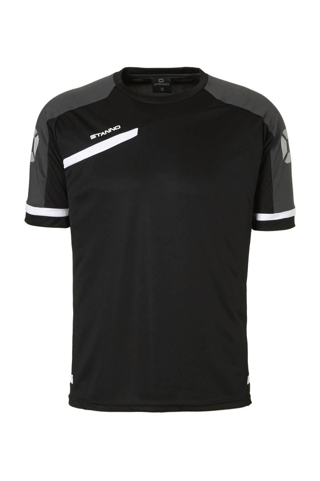 Stanno   sport T-shirt, Zwart/antraciet