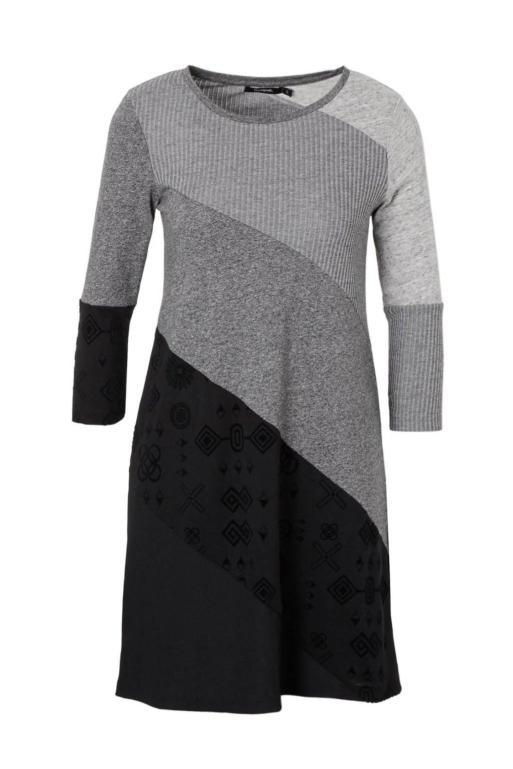 Desigual jurk, Grijs/zwart