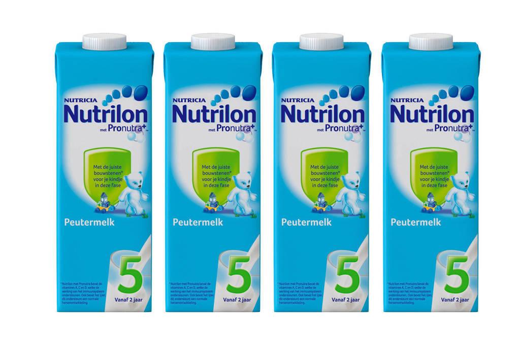 Nutrilon  5 Peutermelk Kant En Klaar flesvoeding - 4x 1000 ml, Vanaf 24 maanden