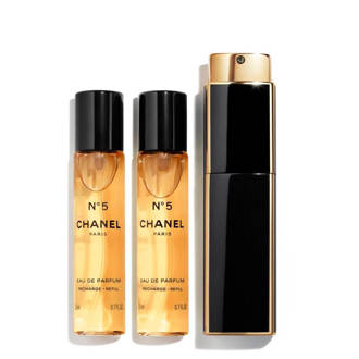 No. 5 Twist & Spray eau de parfum - 3 x 20 ml