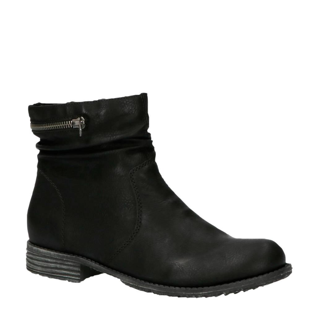 Rieker  comfort enkellaarzen zwart, Zwart