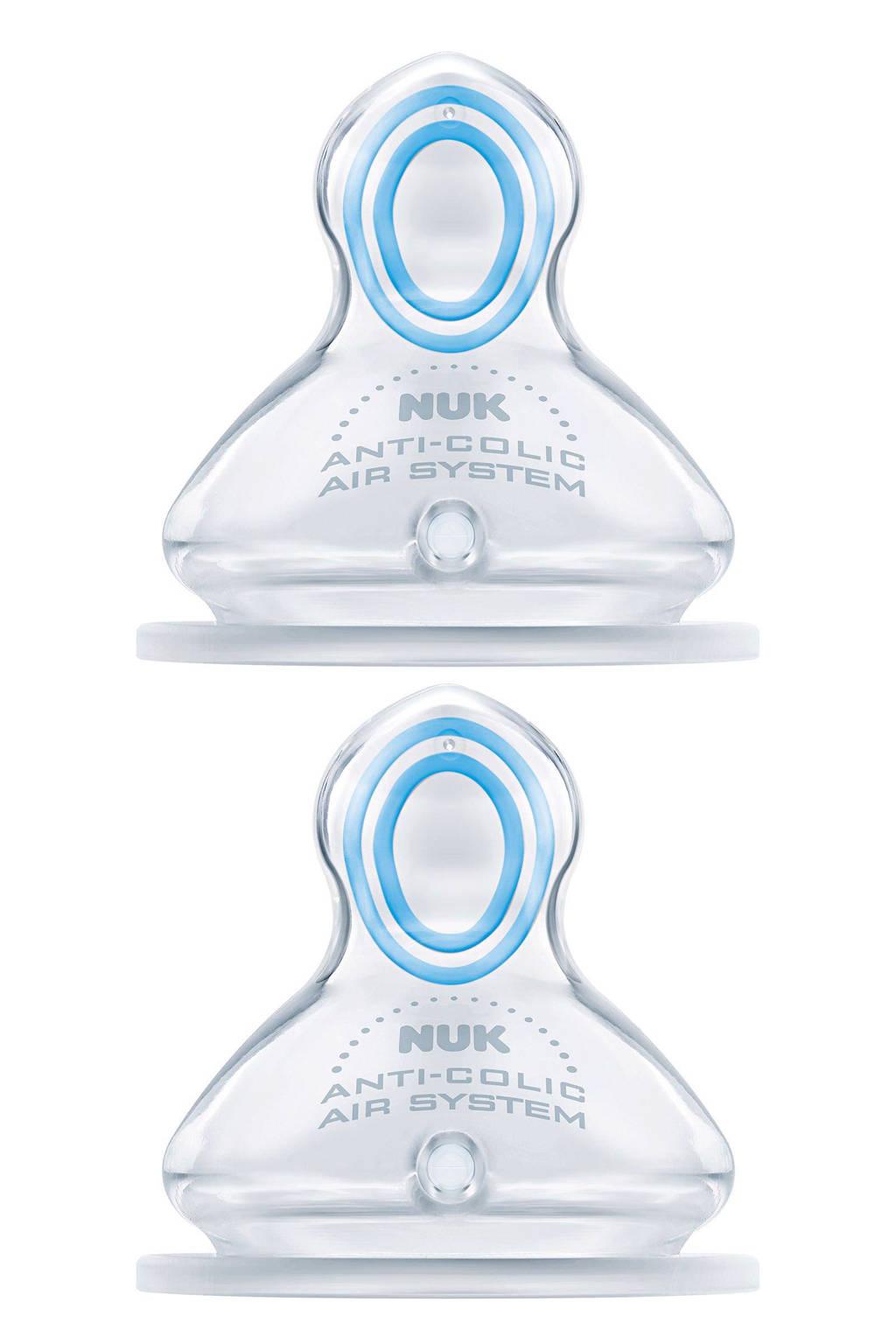 NUK First Choice Plus Orthodontische speen maat 1S (2-stuks)