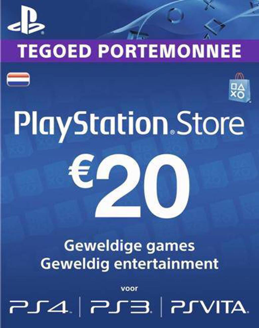PlayStation Network NEDERLAND voucher card 20 PS4/PS3/PSP (PlayStation 3)