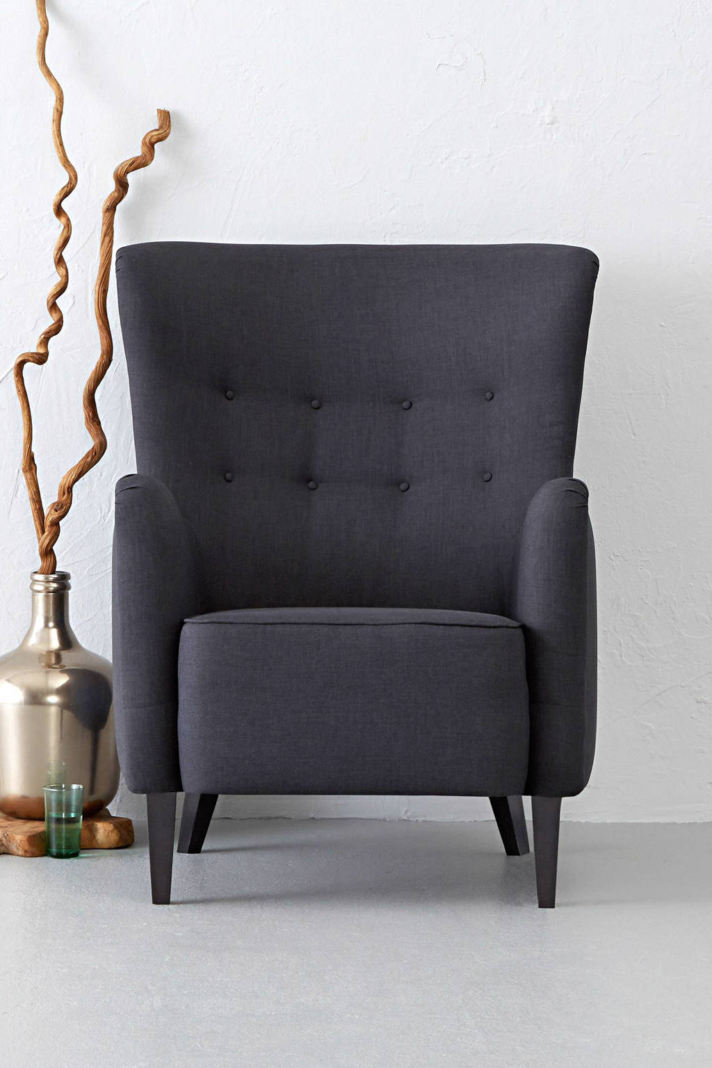 whkmp's own fauteuil York, Antraciet