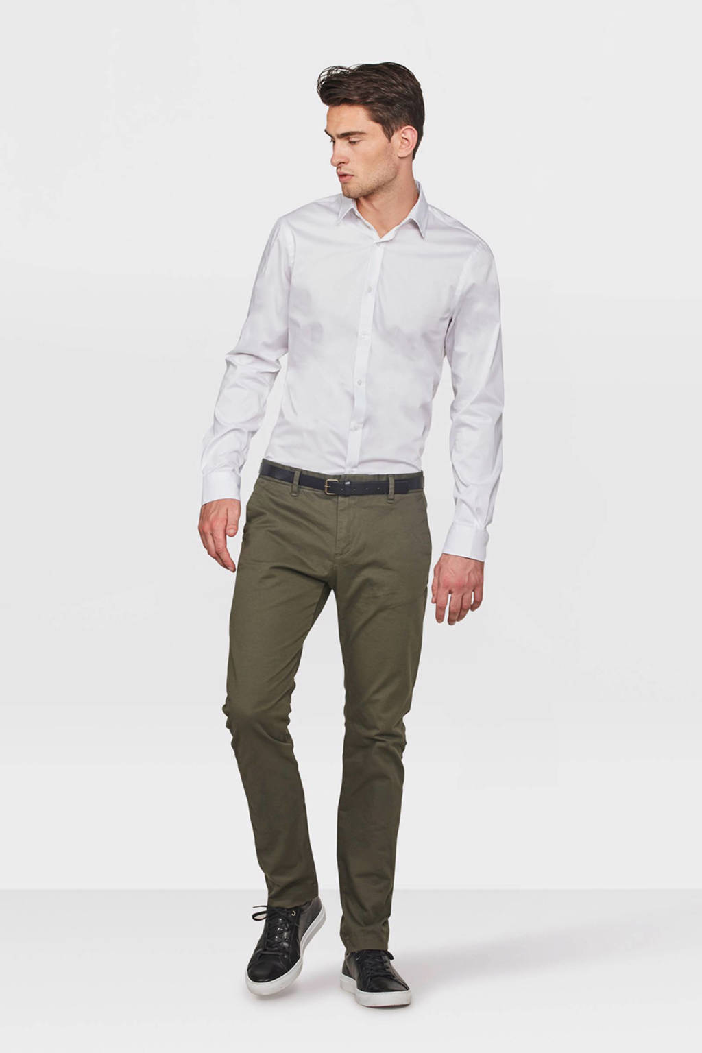WE Fashion Blue Ridge Bobby skinny fit chino kaki, Kaki