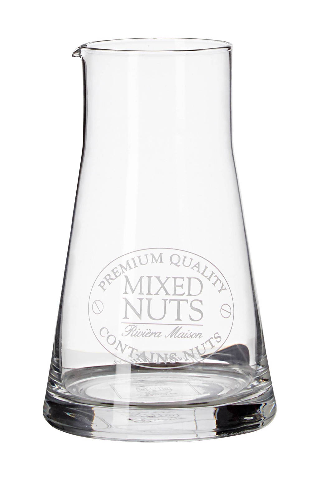 Riviera Maison karaf Mixed Nuts (Ø10 cm), Transparant