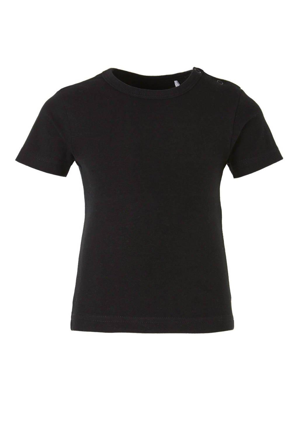 Dirkje T-shirt zwart, Zwart, Korte mouw