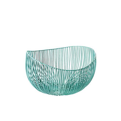 Schaal van draad Tale I metaal turquoise, Serax