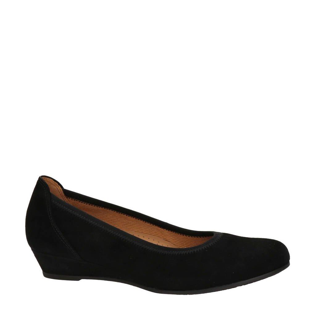 Gabor  comfort suède ballerina's zwart, Zwart