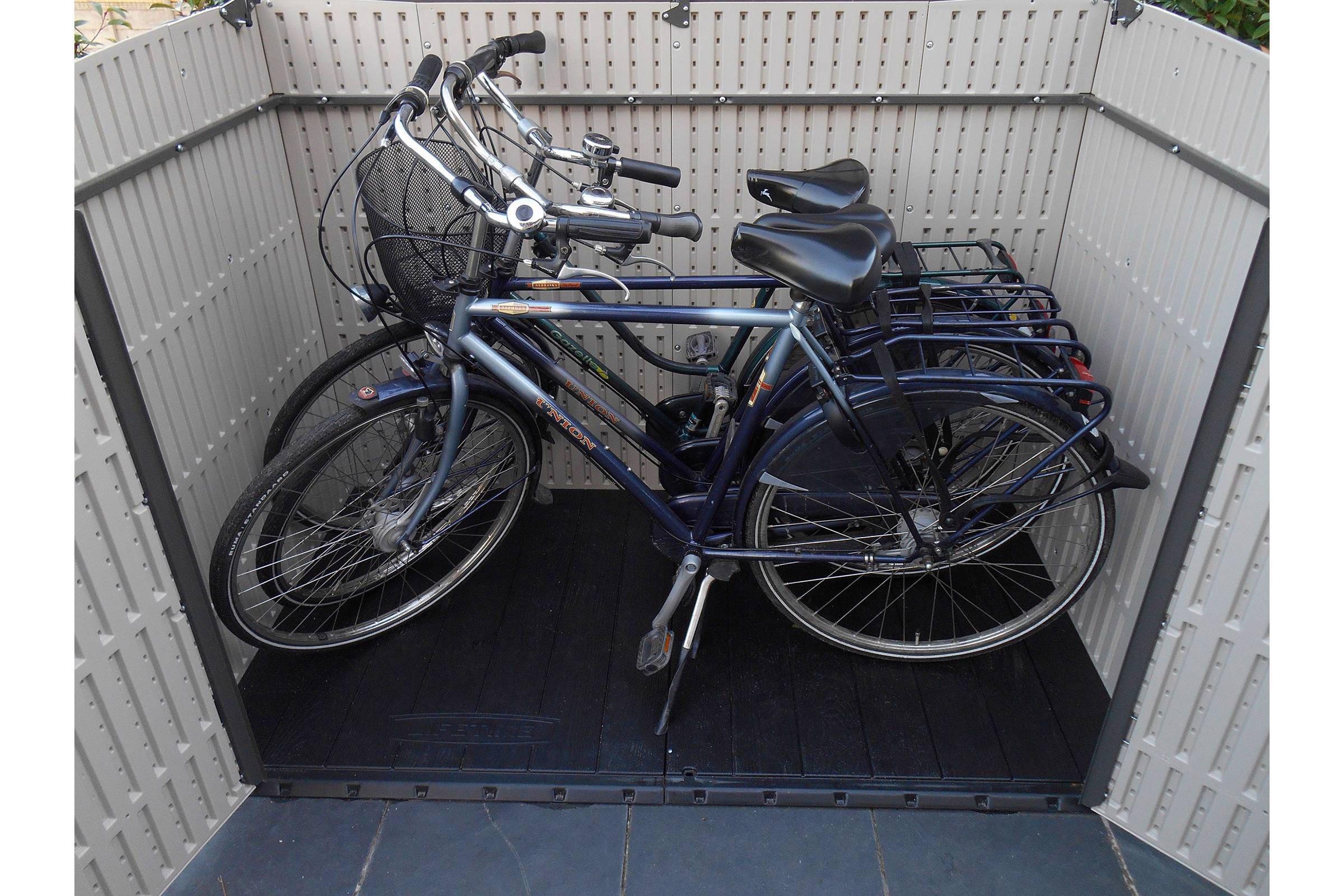 Lifetime fiets en container berging wehkamp