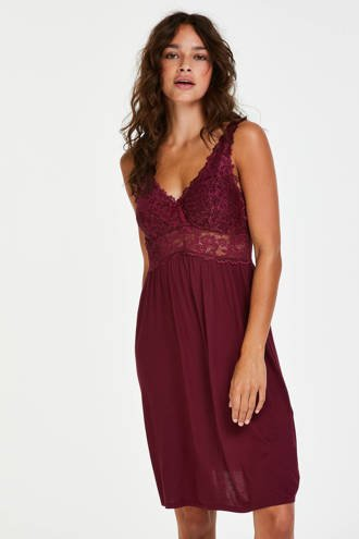 Core collection other slipdress Modal Lace bordeaux