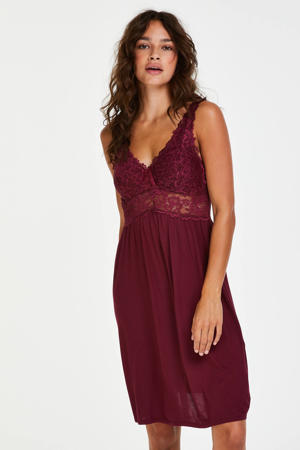slipdress Modal Lace bordeaux