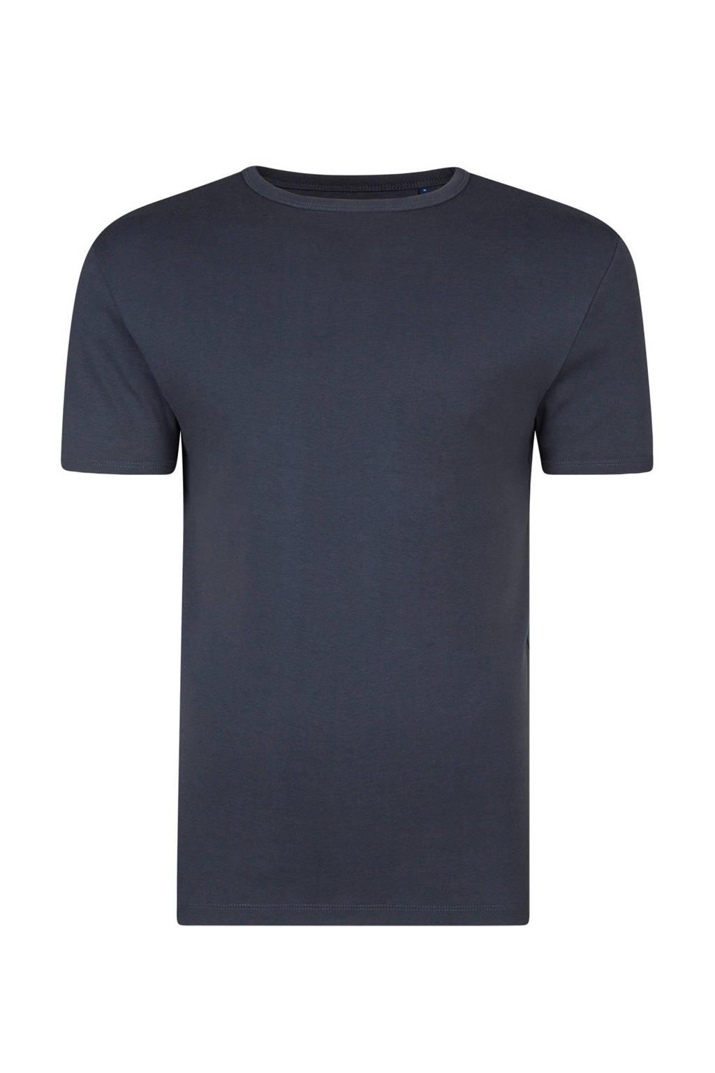 WE Fashion slim fit T-shirt, Blauw