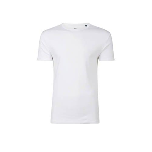 WE Fashion Fundamental slim t-shirt wit