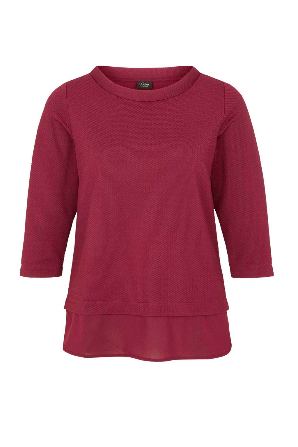 s.Oliver BLACK LABEL T-shirt, Bordeaux