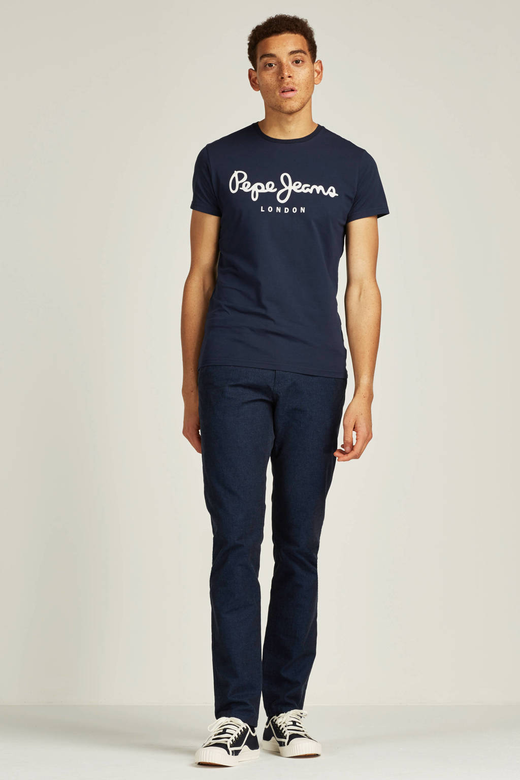 Pepe Jeans T-shirt, Donkerblauw/wit